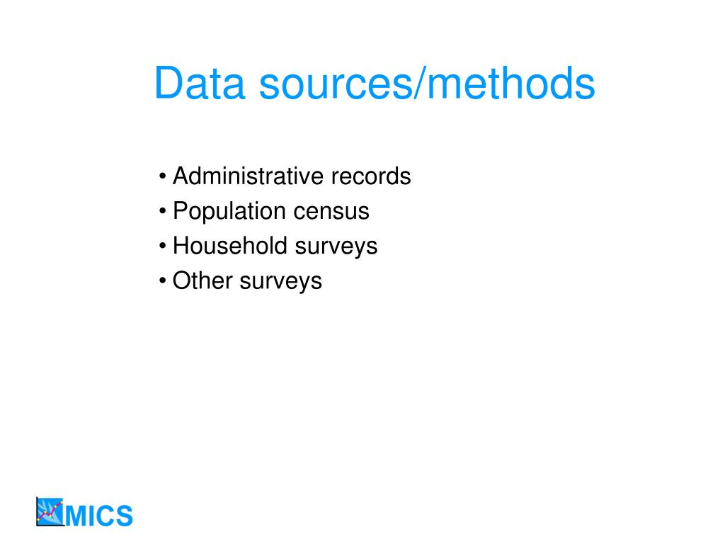 Data sources/methods