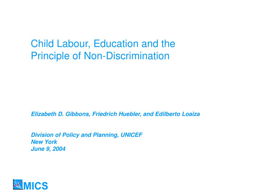 Child Labour, Education and the