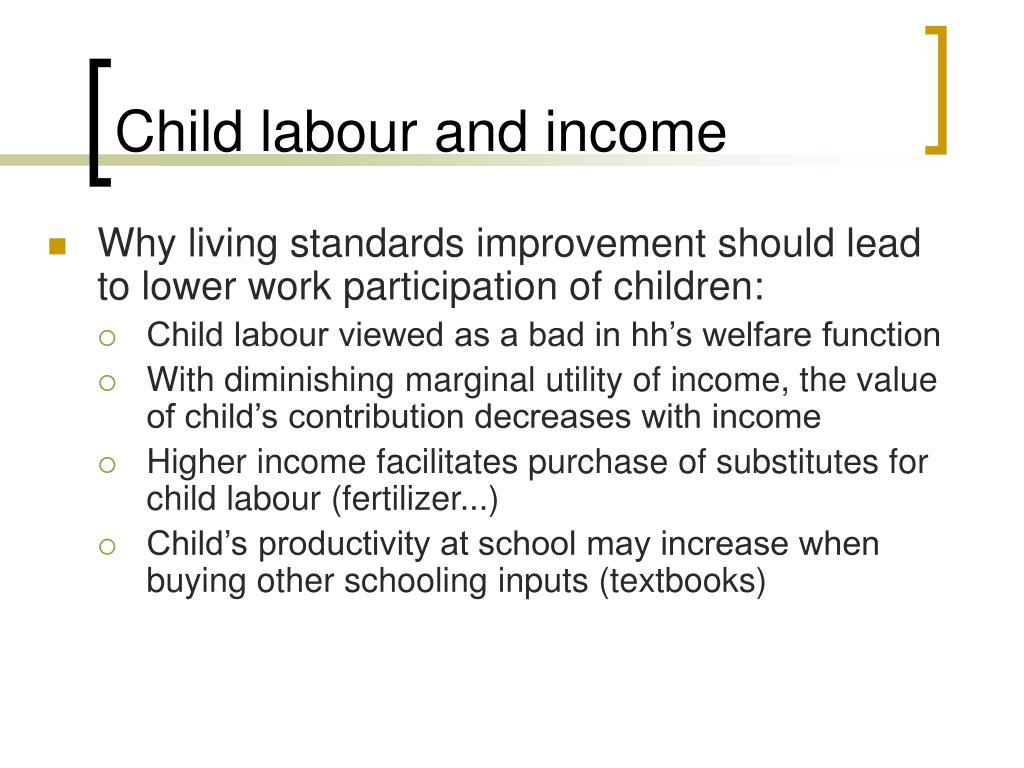 Child labour and income