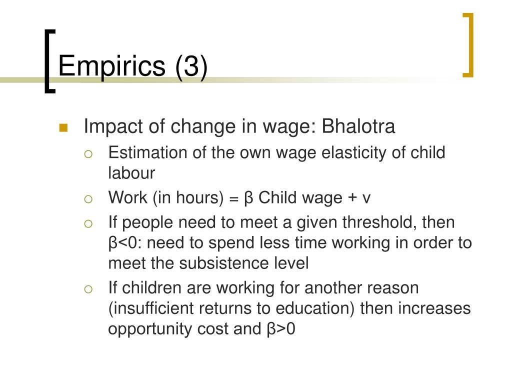Empirics (3)