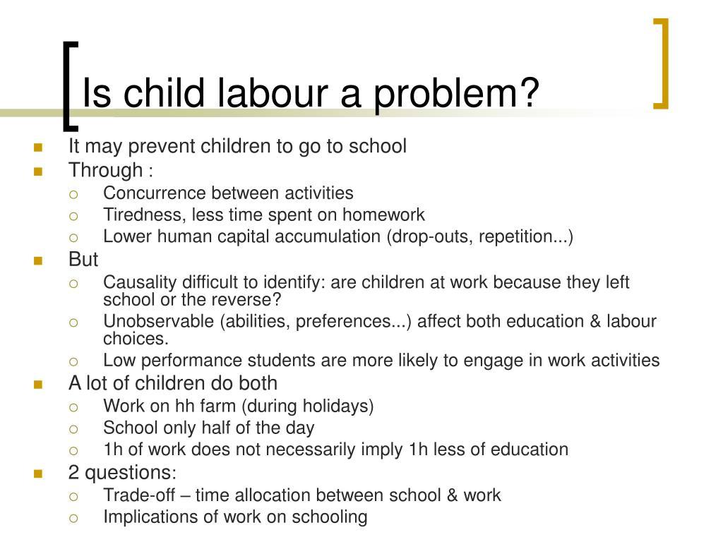 Is child labour a problem?