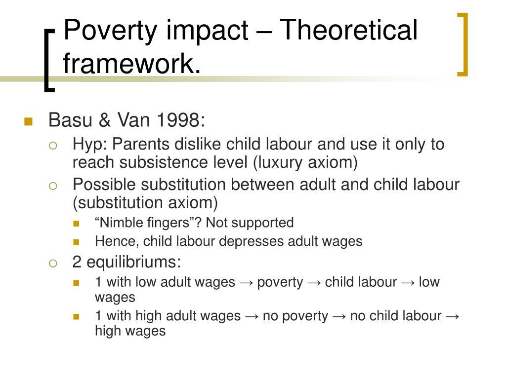 Poverty impact – Theoretical framework.