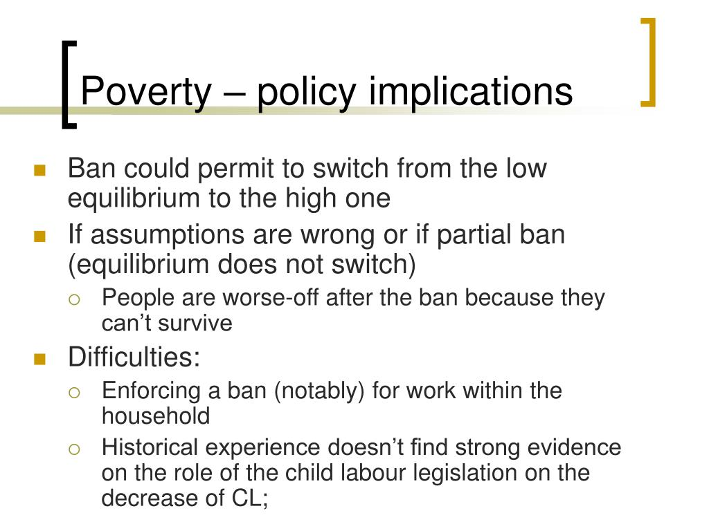 Poverty – policy implications