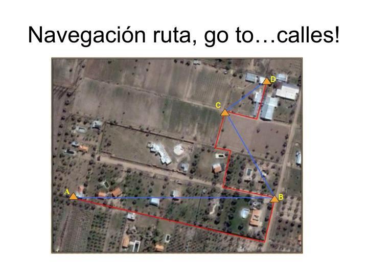 Navegación ruta, go to…calles!