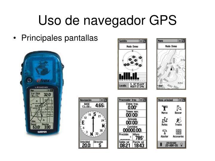Uso de navegador GPS