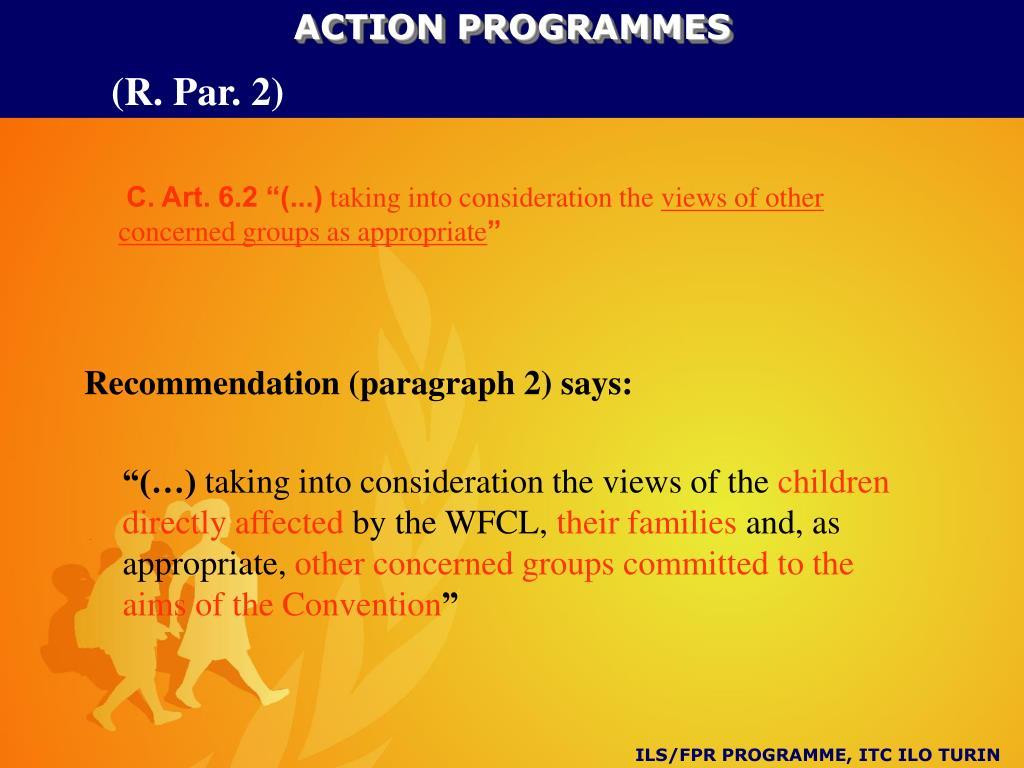 ACTION PROGRAMMES