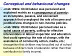 conceptual and behavioural changes