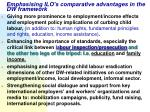 emphasising ilo s comparative advantages in the dw framework