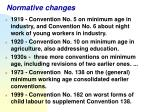 normative changes