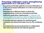 promoting ratification and or strengthening application of c 138 and c 182