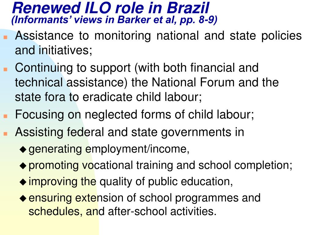 Renewed ILO role in Brazil