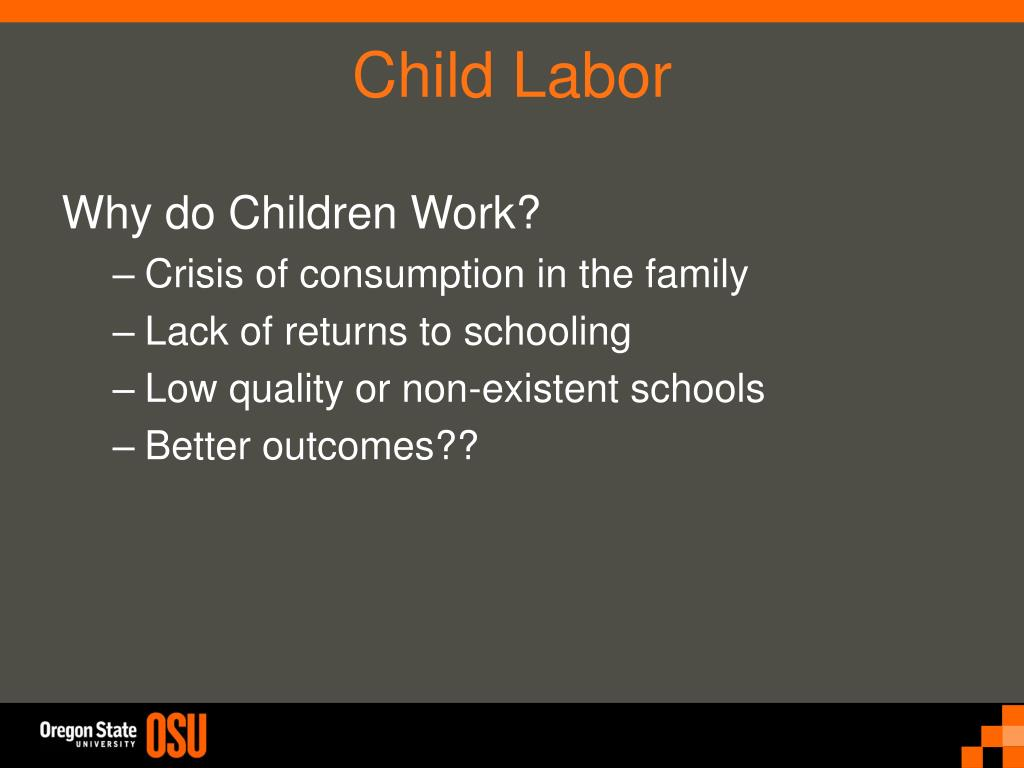 Why do Children Work?