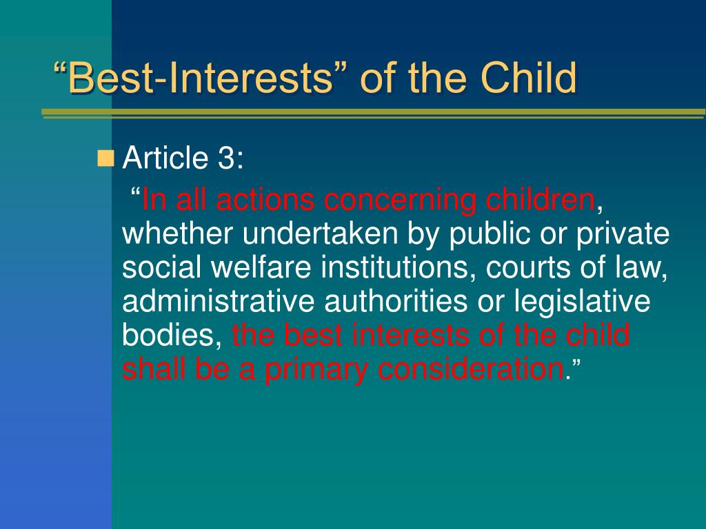 """Best-Interests"" of the Child"