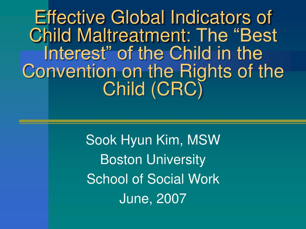 Effective Global Indicators of Child Maltreatment