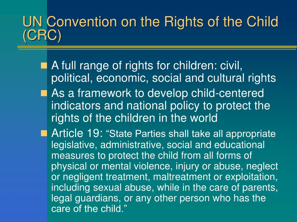 UN Convention on the Rights of the Child (CRC)