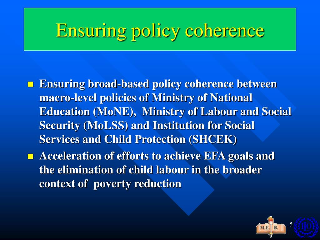 Ensuring policy coherence