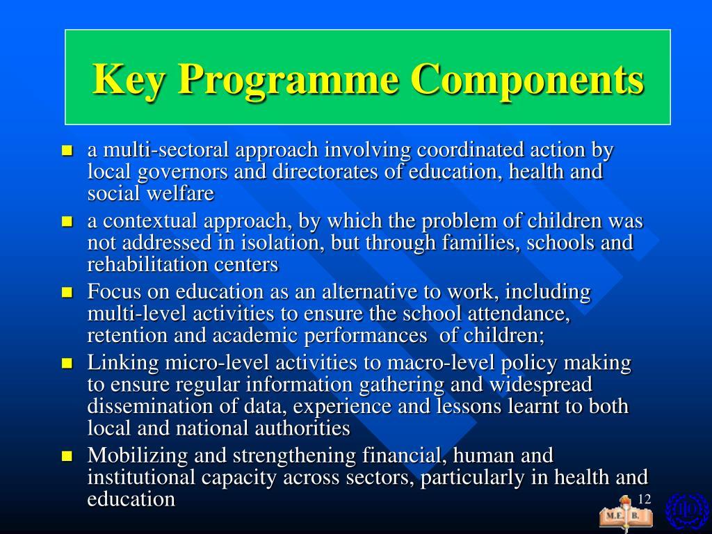 Key programme  Components