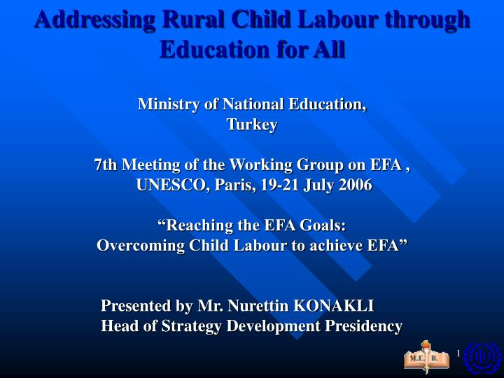 Addressing Rural Child