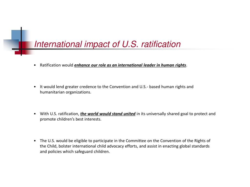 International impact of U.S. ratification