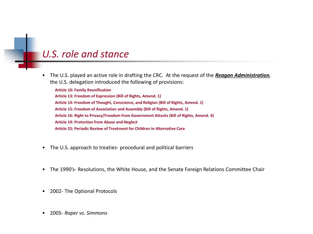 U.S. role and stance