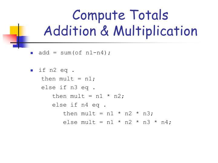 Compute Totals
