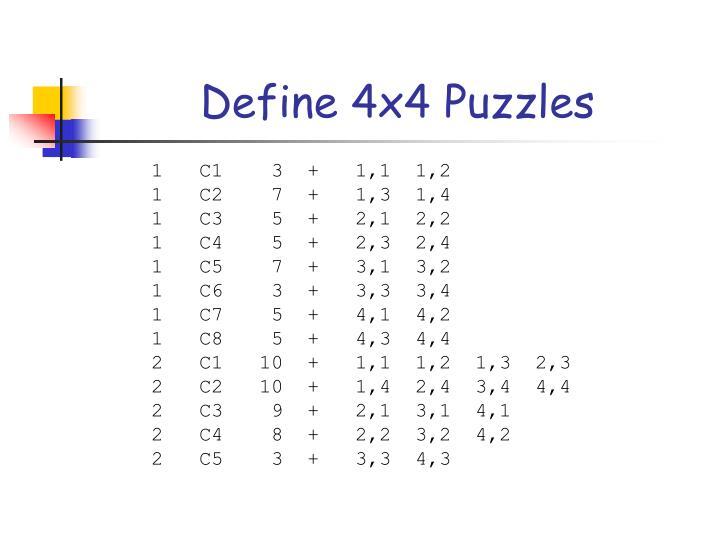 Define 4x4 Puzzles