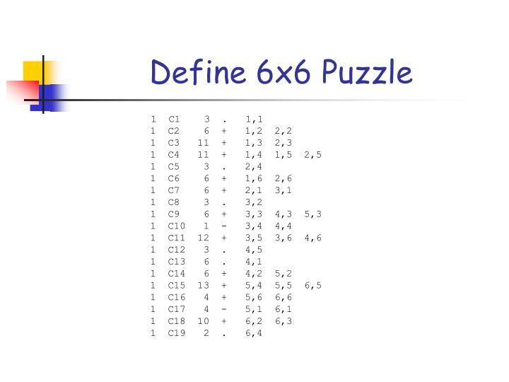 Define 6x6 Puzzle