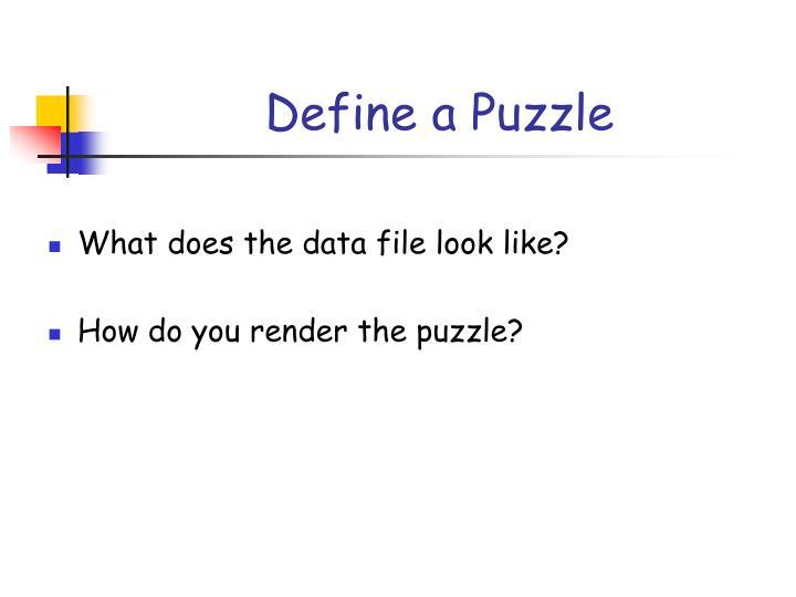 Define a Puzzle