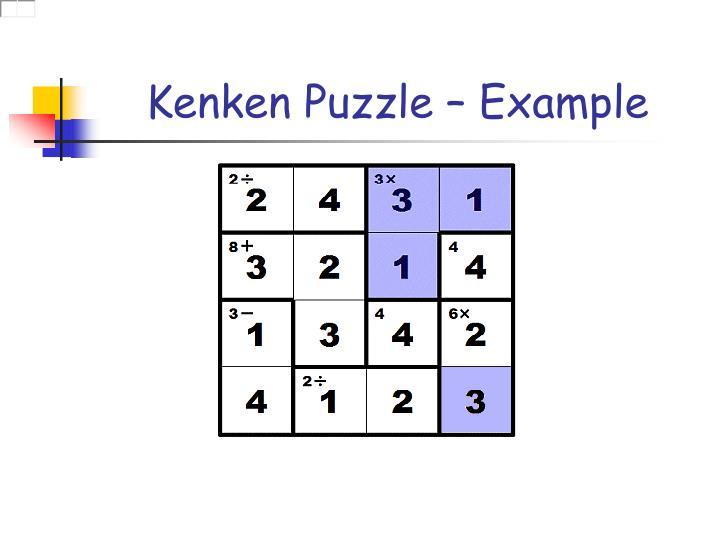 Kenken Puzzle – Example