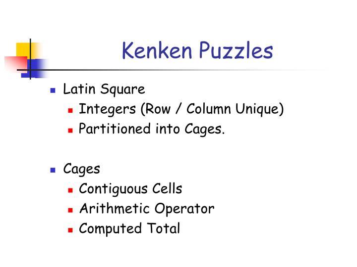 Kenken Puzzles