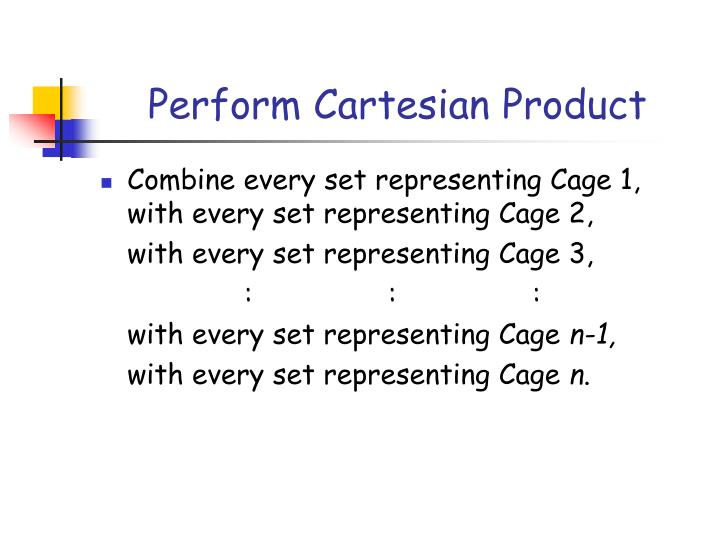 Perform Cartesian Product