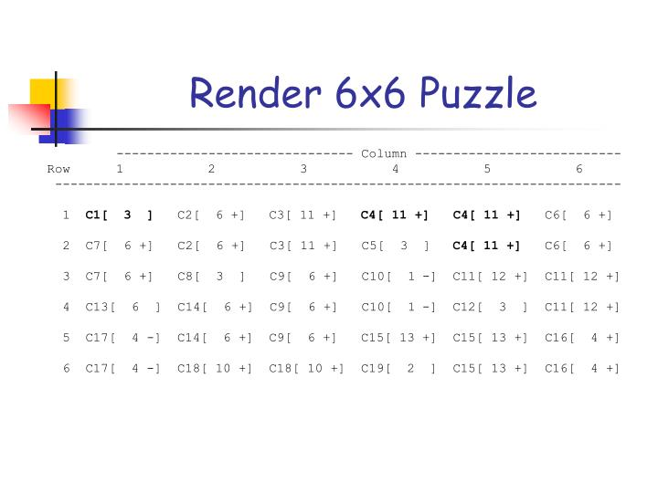 Render 6x6 Puzzle