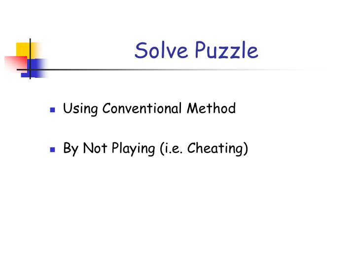 Solve Puzzle