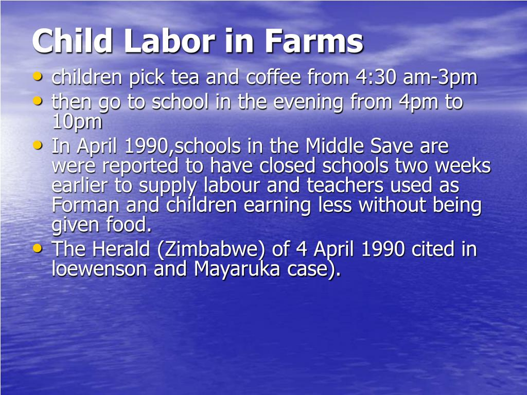 Child Labor in Farms