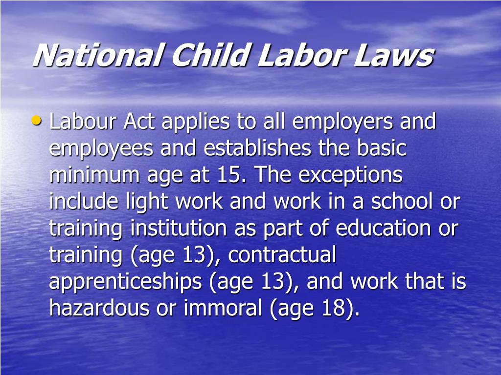 National Child Labor Laws