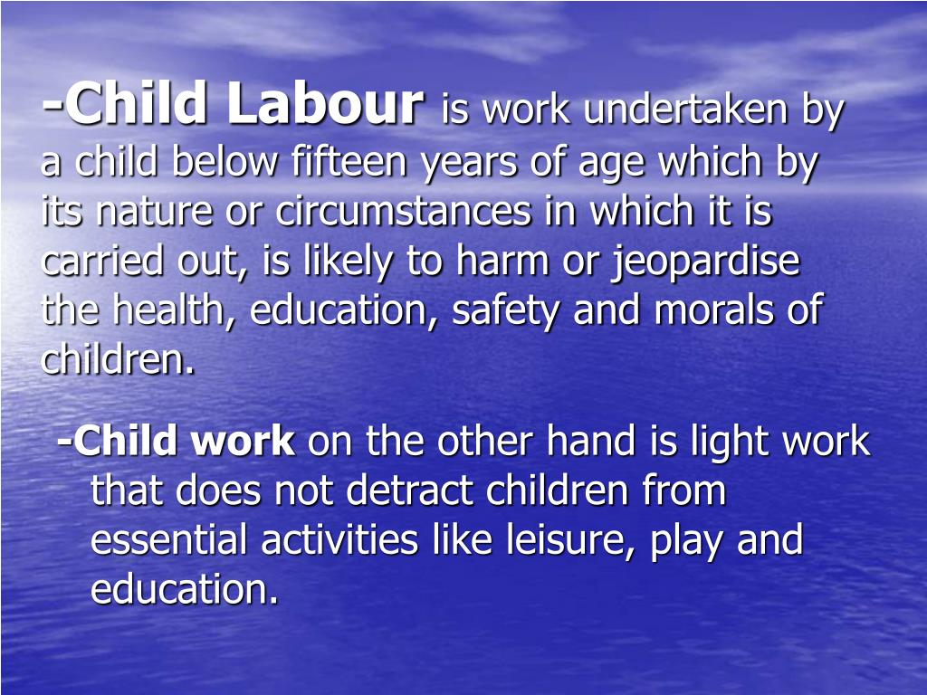 -Child Labour