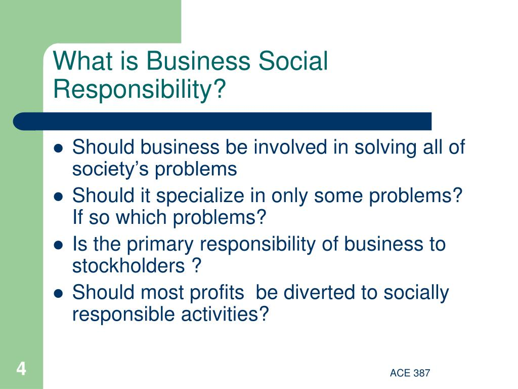 What is Business Social Responsibility?