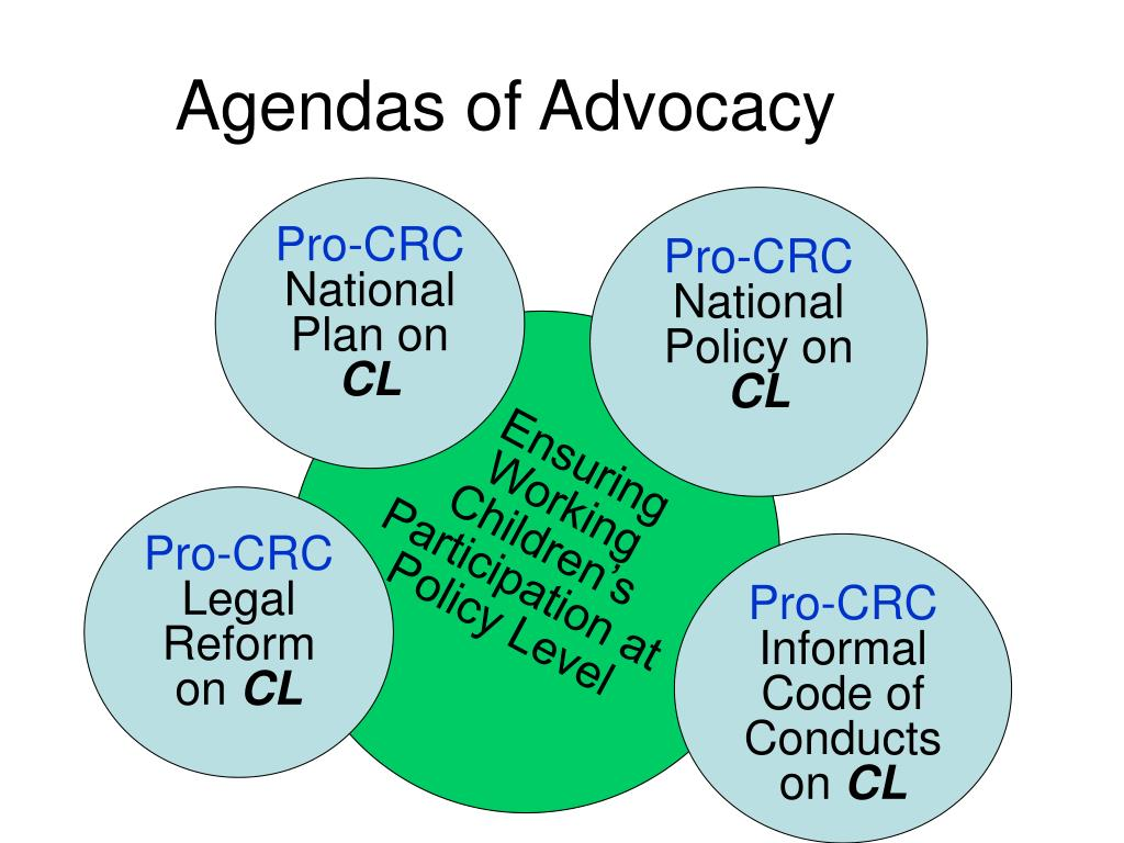Agendas of Advocacy