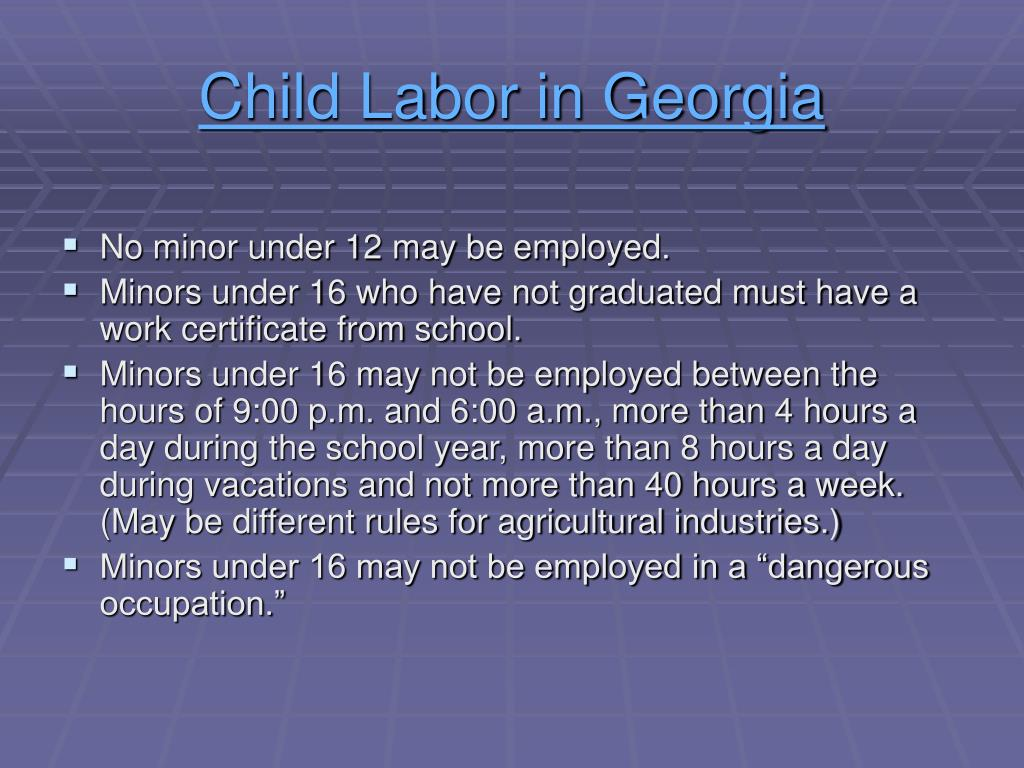 Child Labor in Georgia