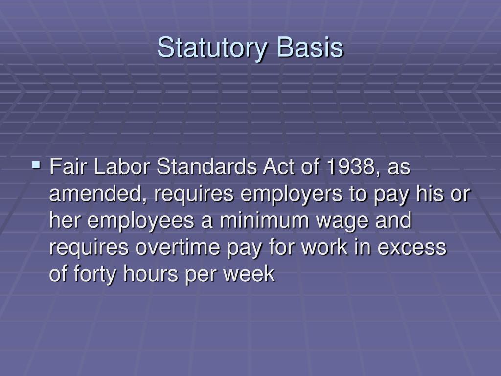 Statutory Basis