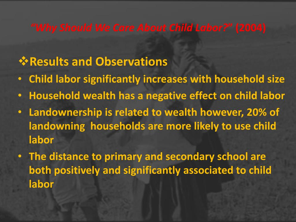 """Why Should We Care About Child Labor?"