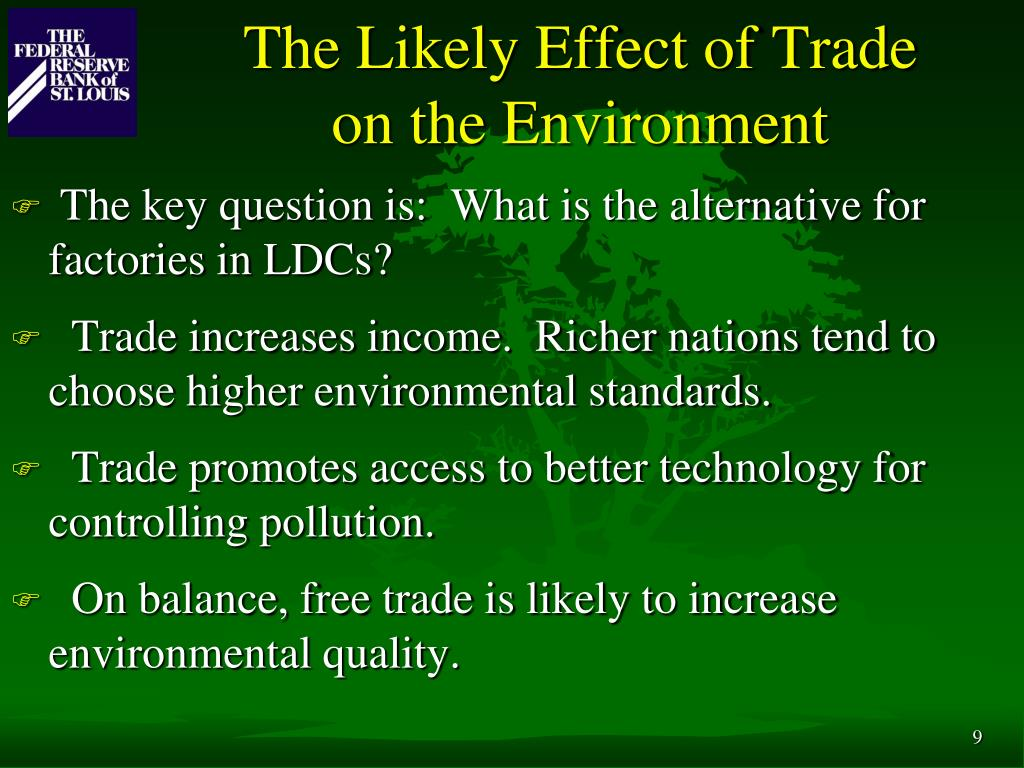 The Likely Effect of Trade