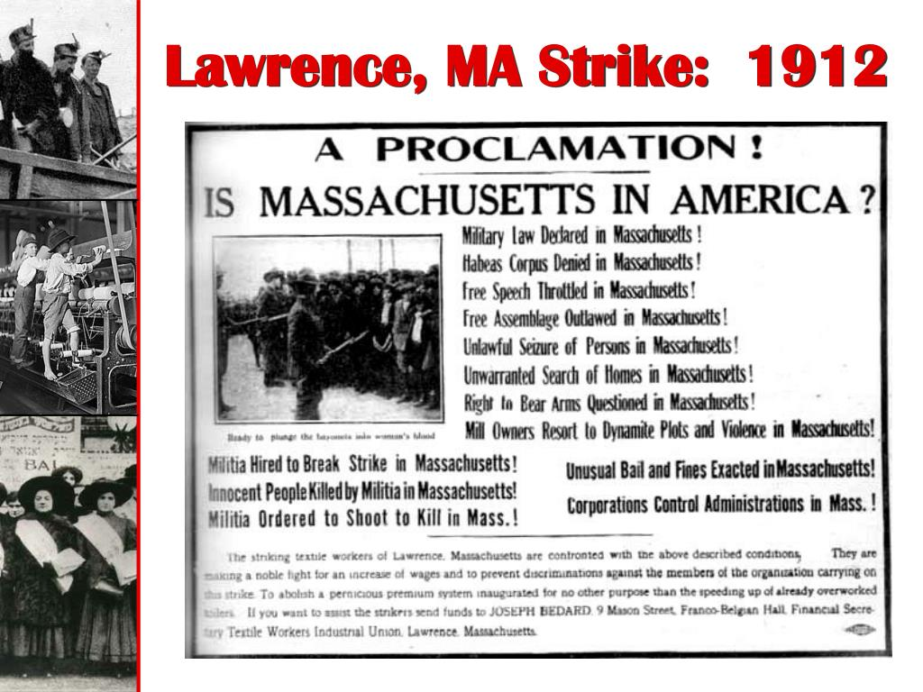 Lawrence, MA Strike:  1912