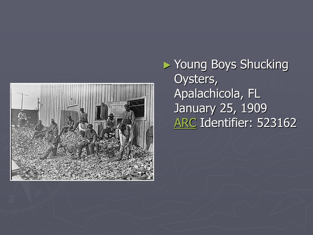 Young Boys Shucking Oysters, Apalachicola,FL