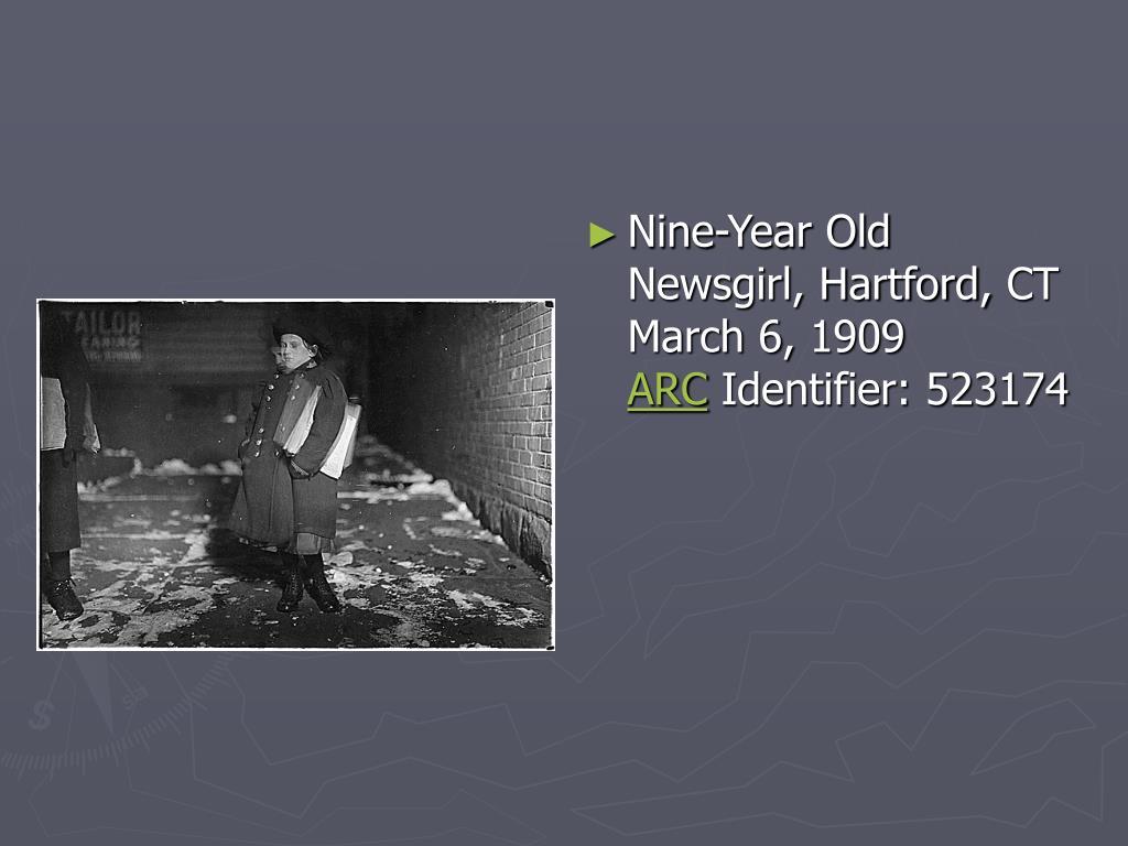 Nine-Year Old Newsgirl, Hartford,CT