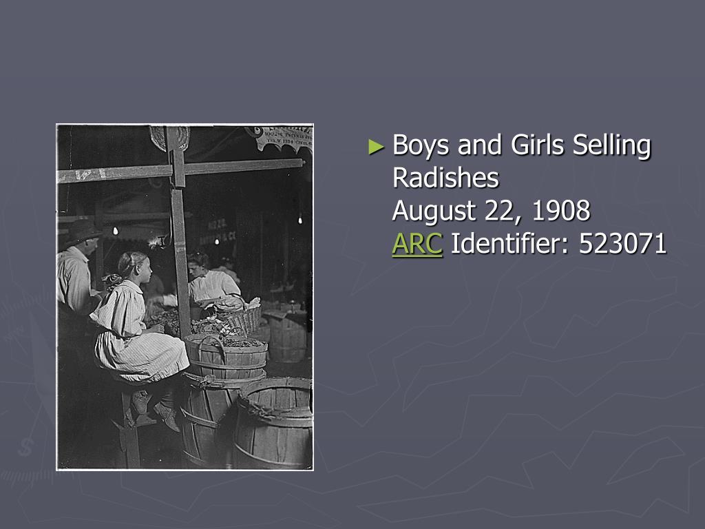 Boys and Girls Selling Radishes