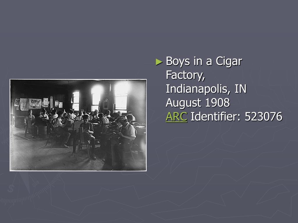 Boys in a Cigar Factory, Indianapolis,IN
