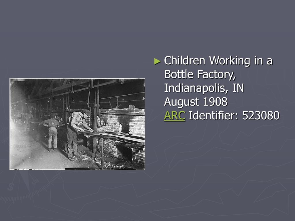 Children Working in a Bottle Factory, Indianapolis,IN