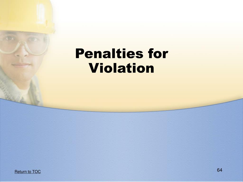 Penalties for