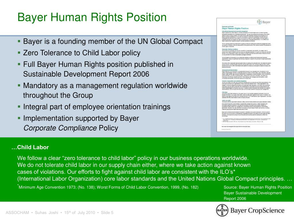 Bayer Human Rights Position
